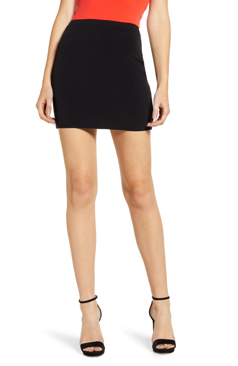 LEITH Mini Body-Con Skirt, Main, color, 001
