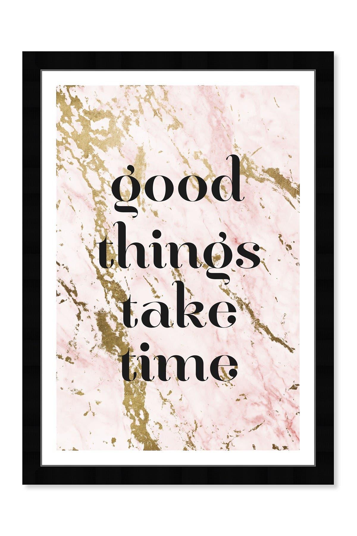 Image of Wynwood Studio Good Things Marble Framed Art