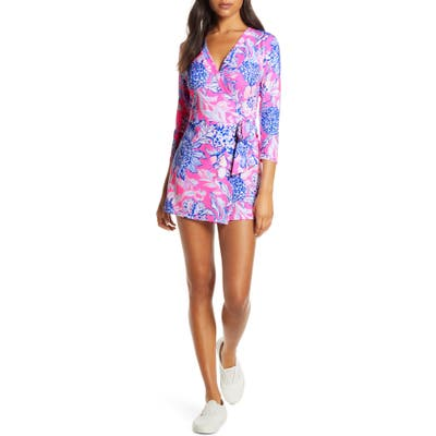 Lilly Pulitzer Karlie Wrap Romper, Pink