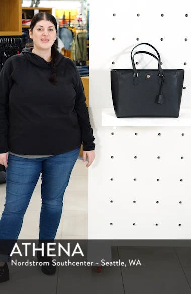 Robinson Saffiano Leather Tote, sales video thumbnail
