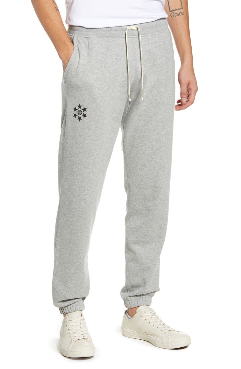REIGNING CHAMP French Terry Sweatpants, Main, color, HEATHER GREY