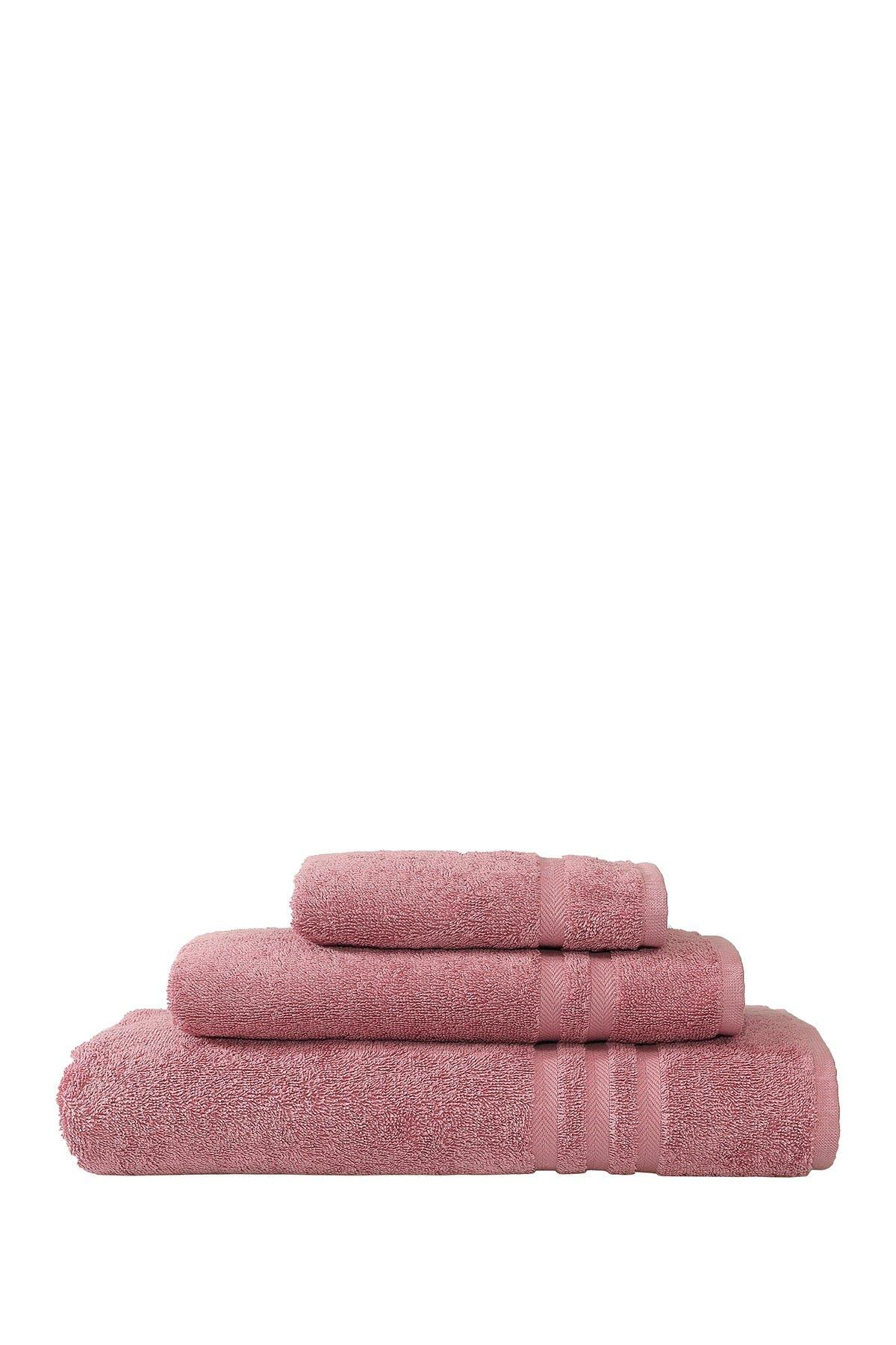 Image of LINUM HOME Denzi 3-Piece Towel Set - Tea Rose