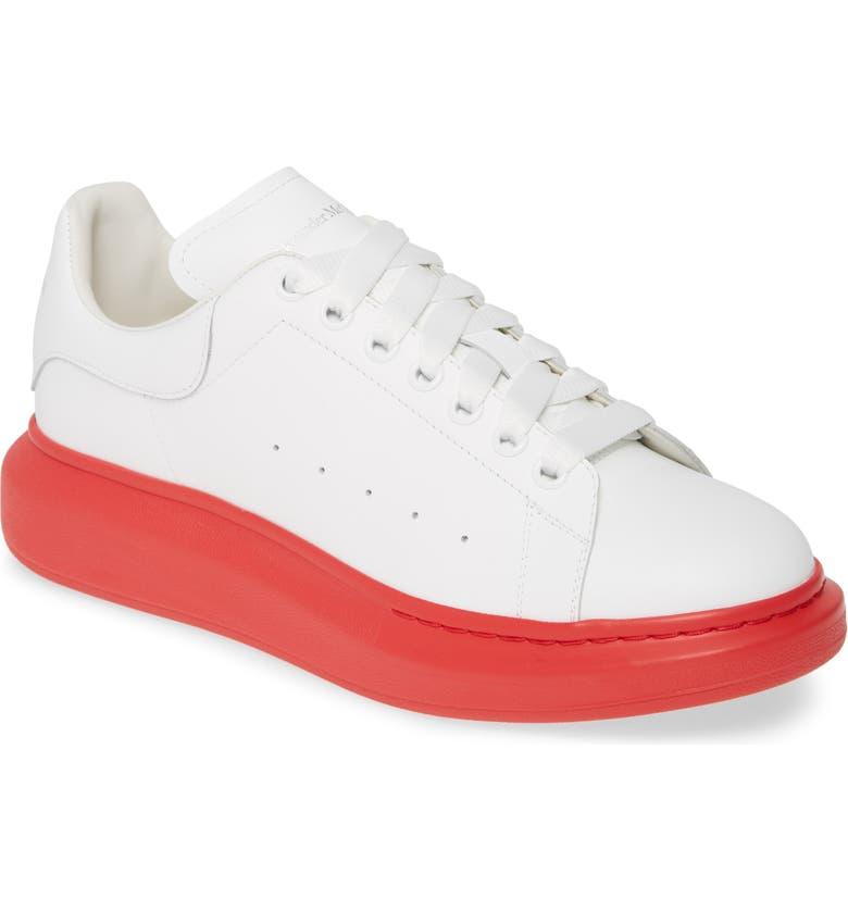 ALEXANDER MCQUEEN Oversize Sneaker, Main, color, WHITE/ LUST RED