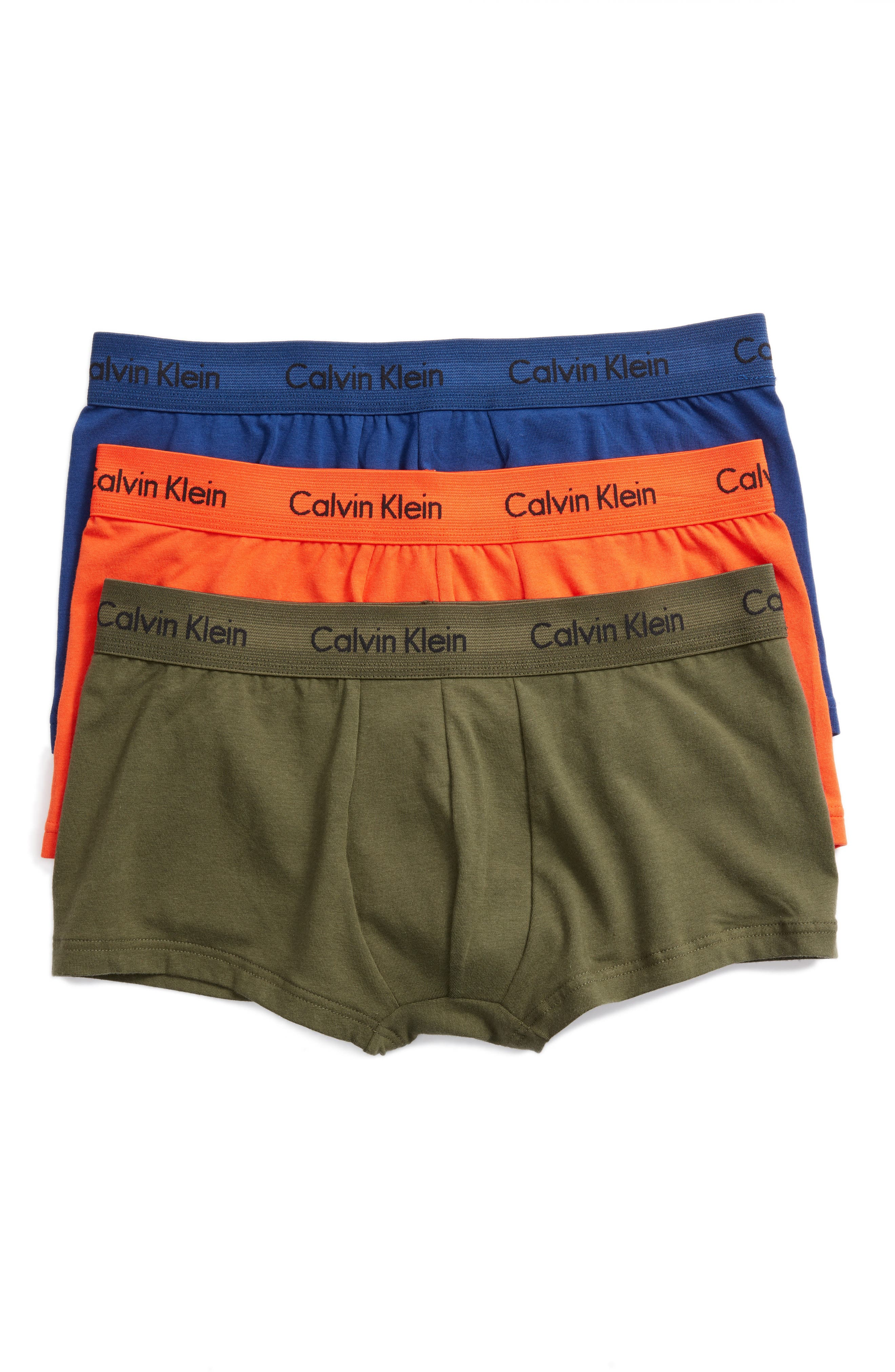 ,                             3-Pack Stretch Cotton Low Rise Trunks,                             Main thumbnail 139, color,                             882