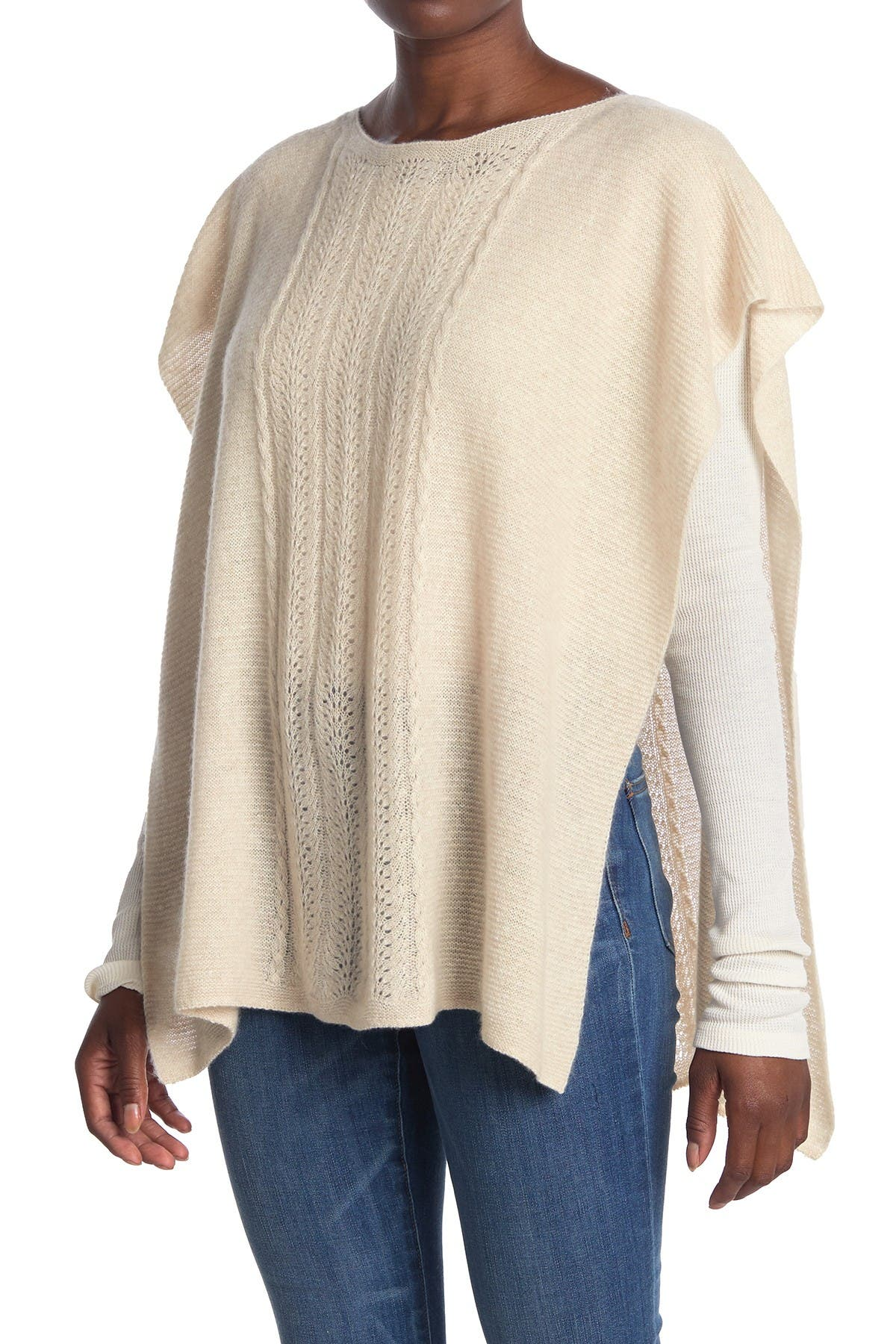 Image of Johnny Was Thea Cable Knit Cashmere Blend Poncho