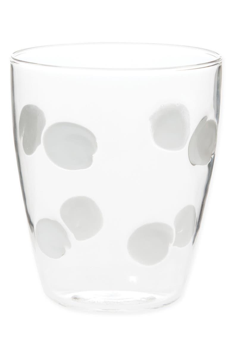 VIETRI Drop Short Tumbler, Main, color, WHITE