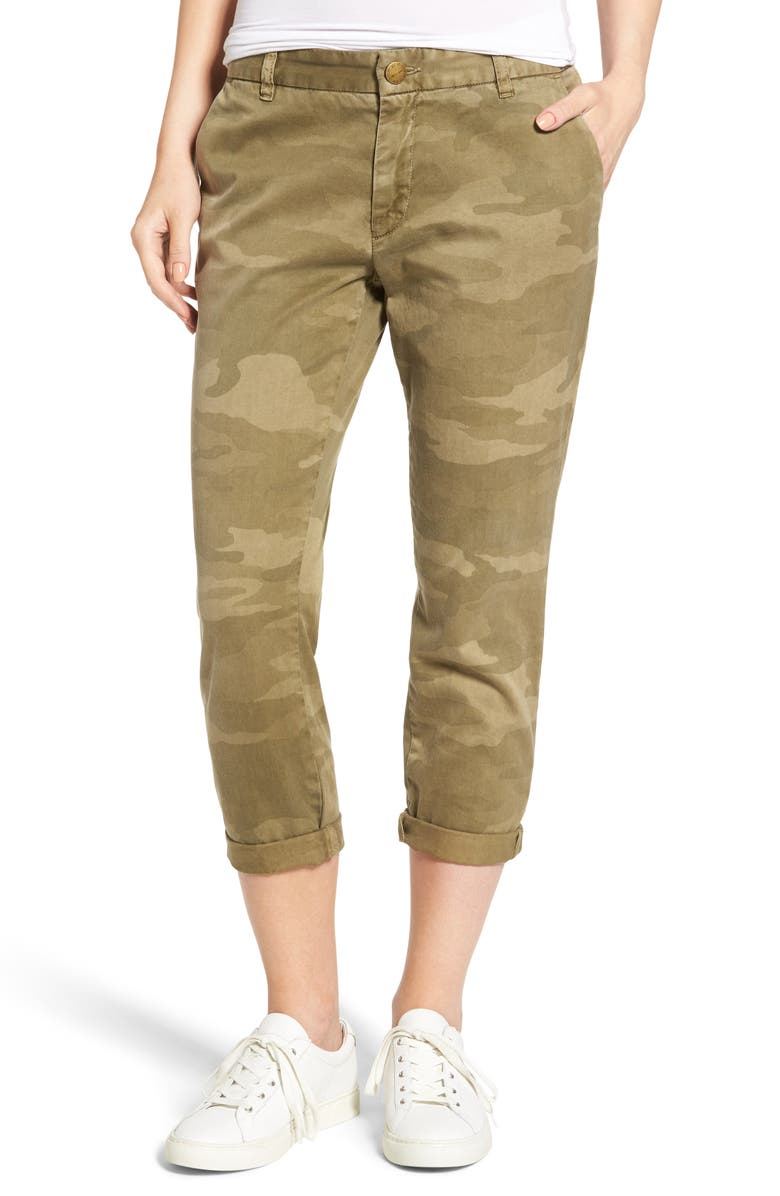 CURRENT/ELLIOTT 'The Buddy' Print Twill Trousers, Main, color, 314