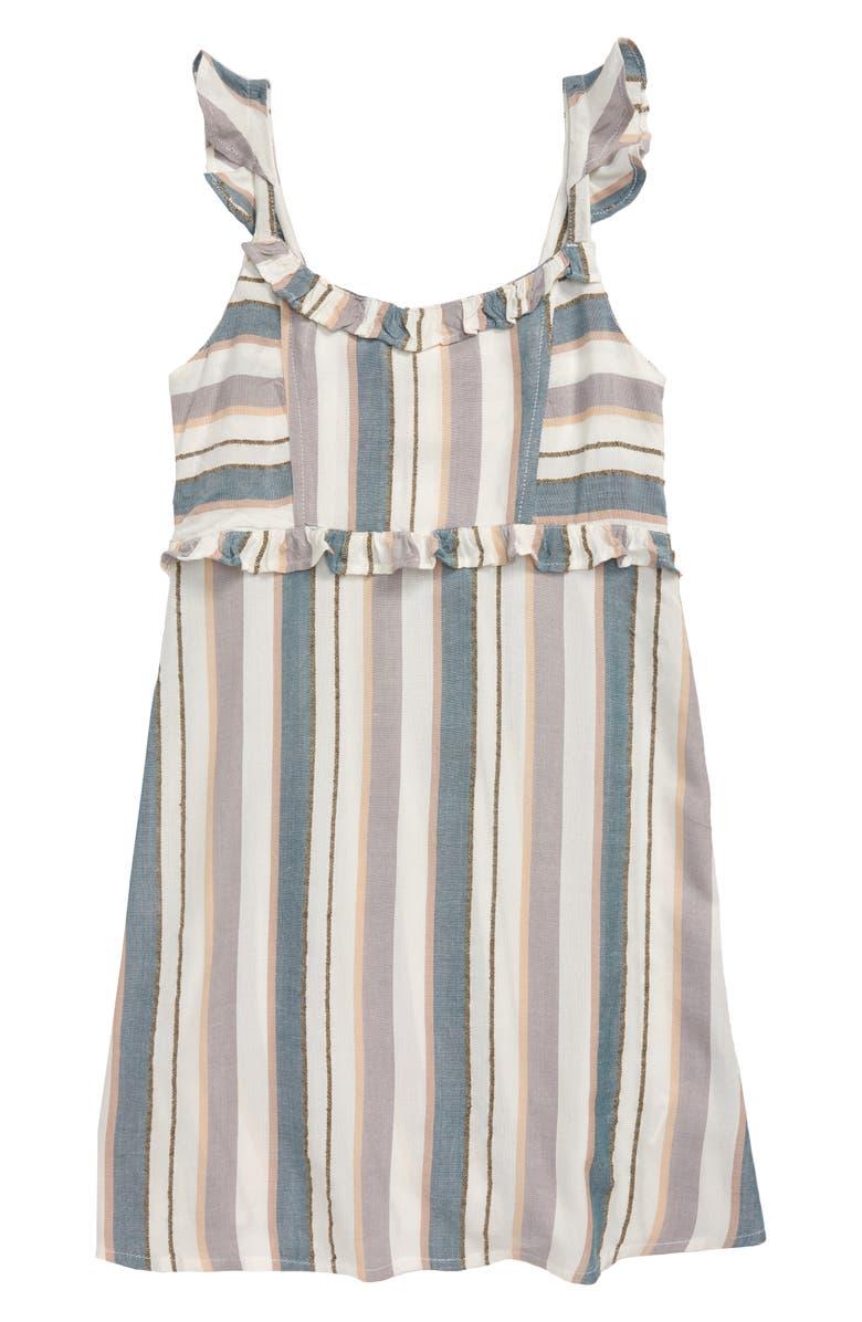 O'NEILL Ahlia Stripe Sundress, Main, color, MULTI COLORED