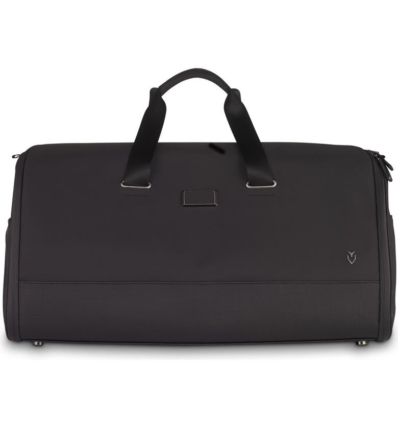 VESSEL Signature 2.0 Garment Duffle Bag, Main, color, MATTE BLACK/ CROC BLACK