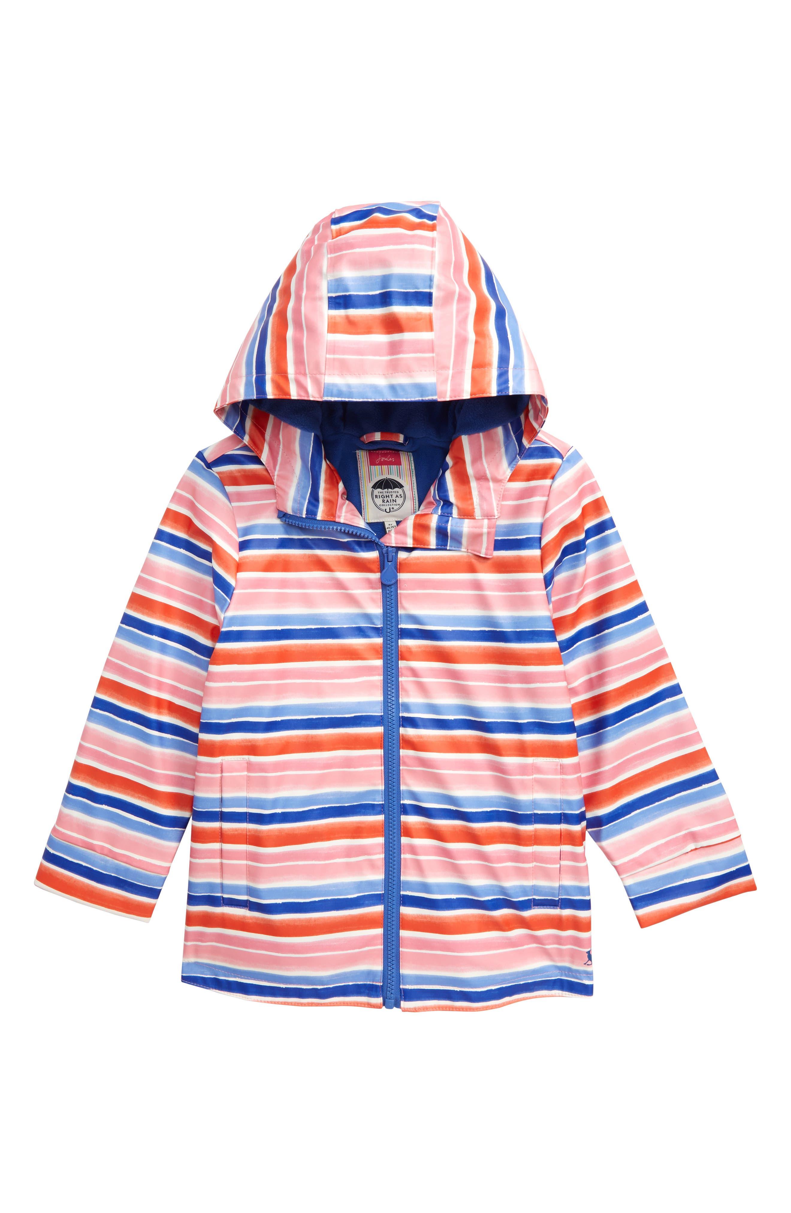 Toddler Girls Joules Raindance Waterproof Rain Jacket Size 3Y  Pink