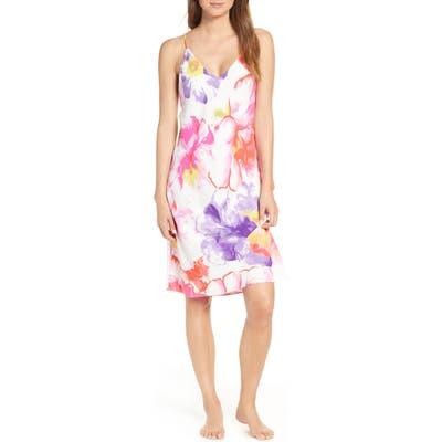 Natori Soleil Slip Nightgown, White