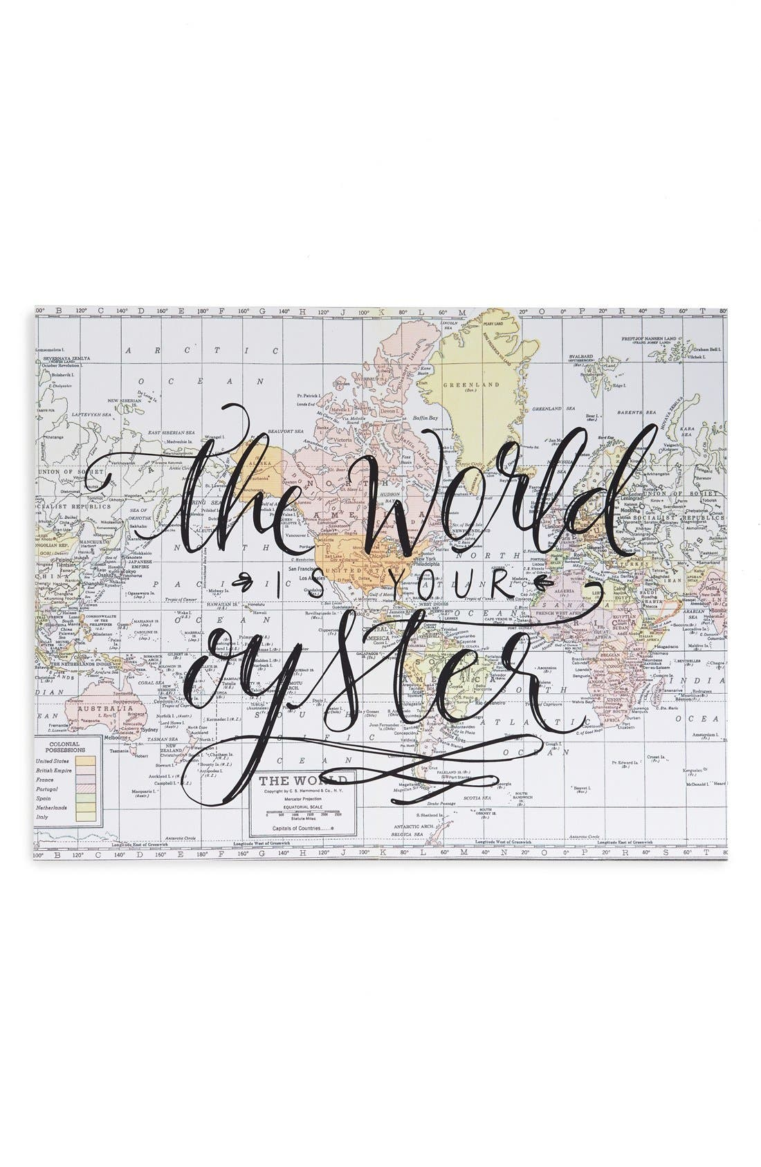 graphic relating to Printable Wisdom referred to as Printable Knowledge The World wide Is Your Oyster Wall Artwork Nordstrom