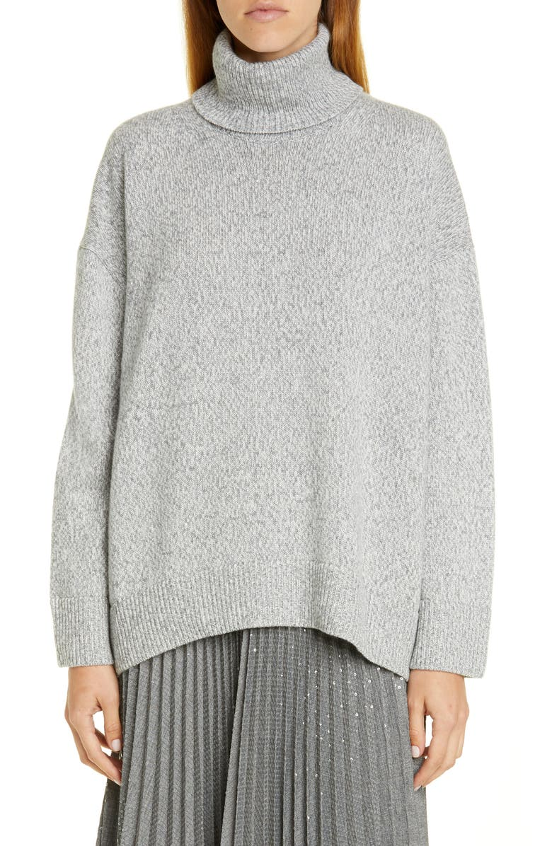 LAFAYETTE 148 NEW YORK Sequin Turtleneck Sweater, Main, color, 056