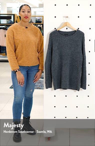 Ribbed Crewneck Tunic Sweater, sales video thumbnail