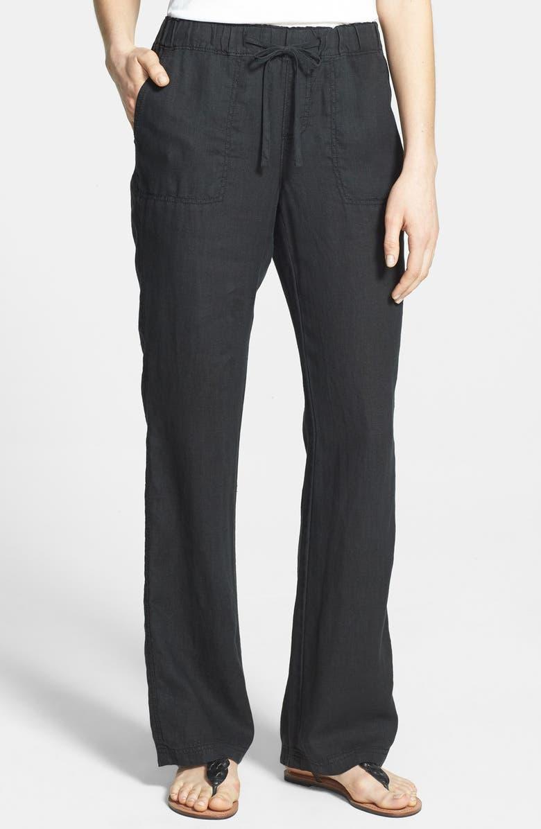 Caslon 174 Drawstring Waist Linen Pants Regular Amp Petite