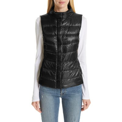 Herno Short Quilted Down Vest, 6 IT - Black