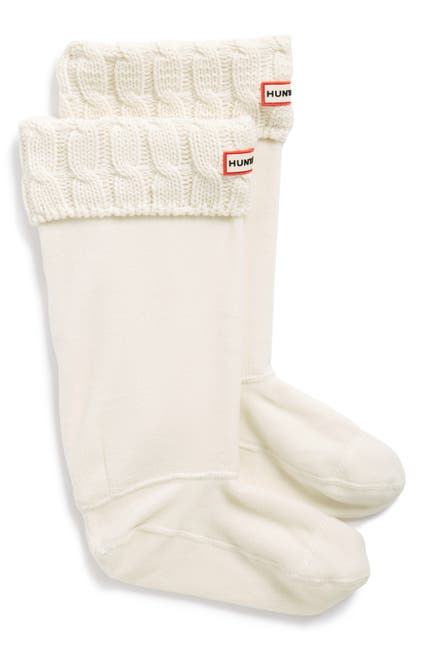 Image of Hunter Original Tall Cable Knit Cuff Welly Boot Socks