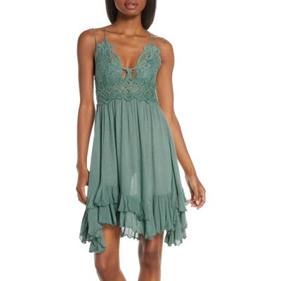 Free People Intimately Fp Adella Frilled Chemise, Blue