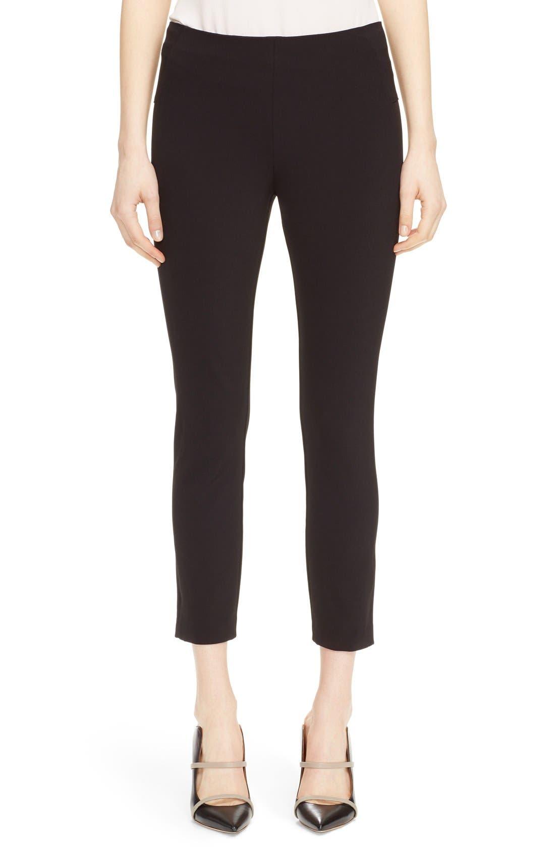 Women's Veronica Beard Back Zip Scuba Pants