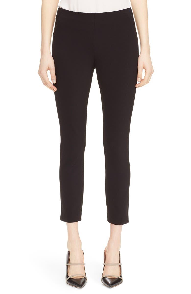 VERONICA BEARD Back Zip Scuba Pants, Main, color, BLACK