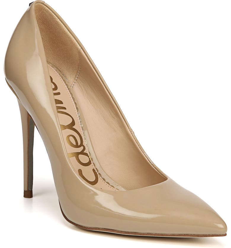 SAM EDELMAN Danna Pointy Toe Pump, Main, color, CLASSIC NUDE PATENT LEATHER