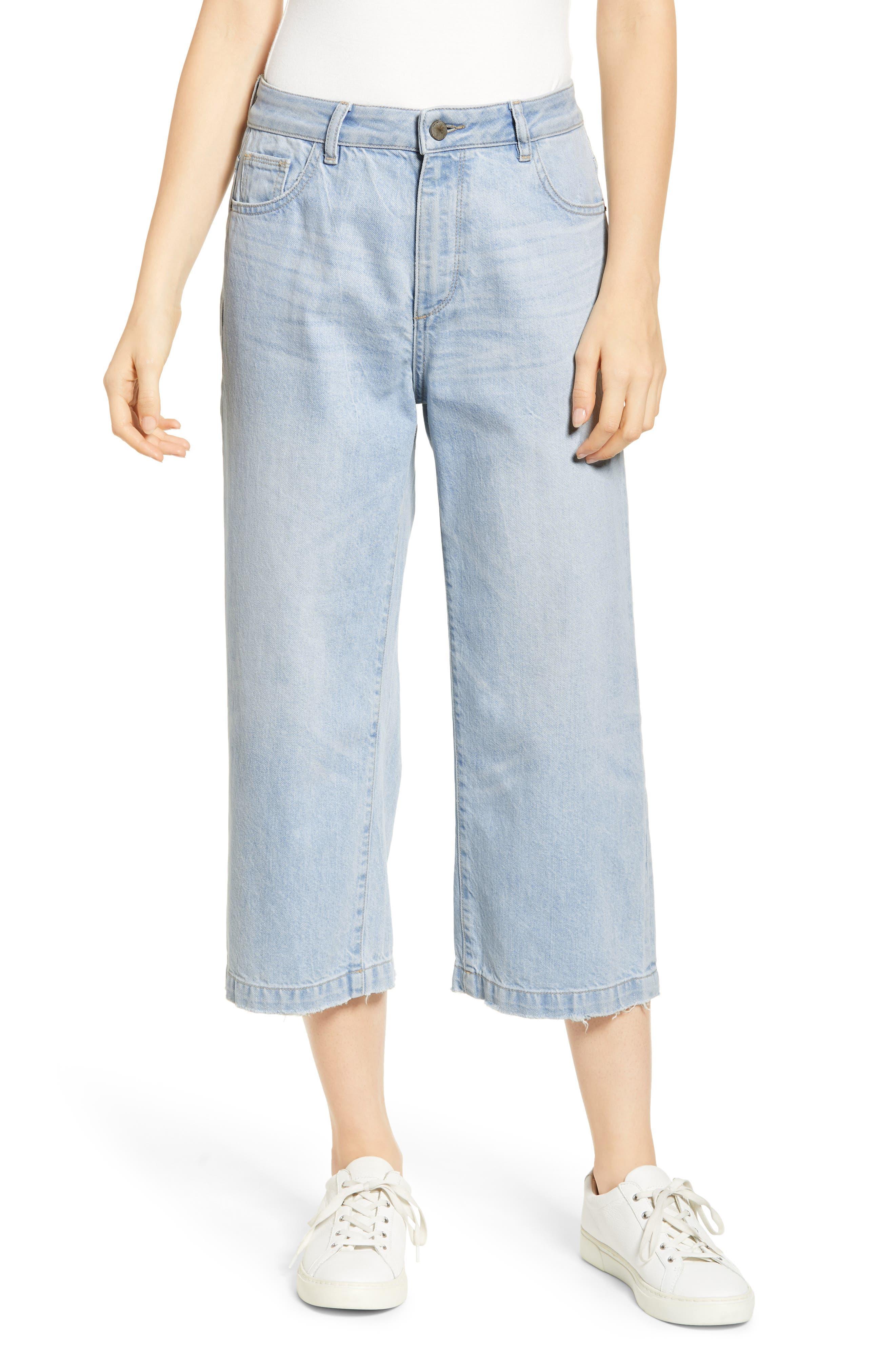 Hepburn High Waist Crop Wide Leg Jeans, Main, color, 429