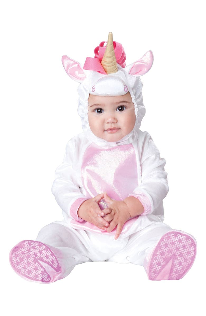 INCHARACTER COSTUMES 'Magical Unicorn' Footie & Hat, Main, color, 650