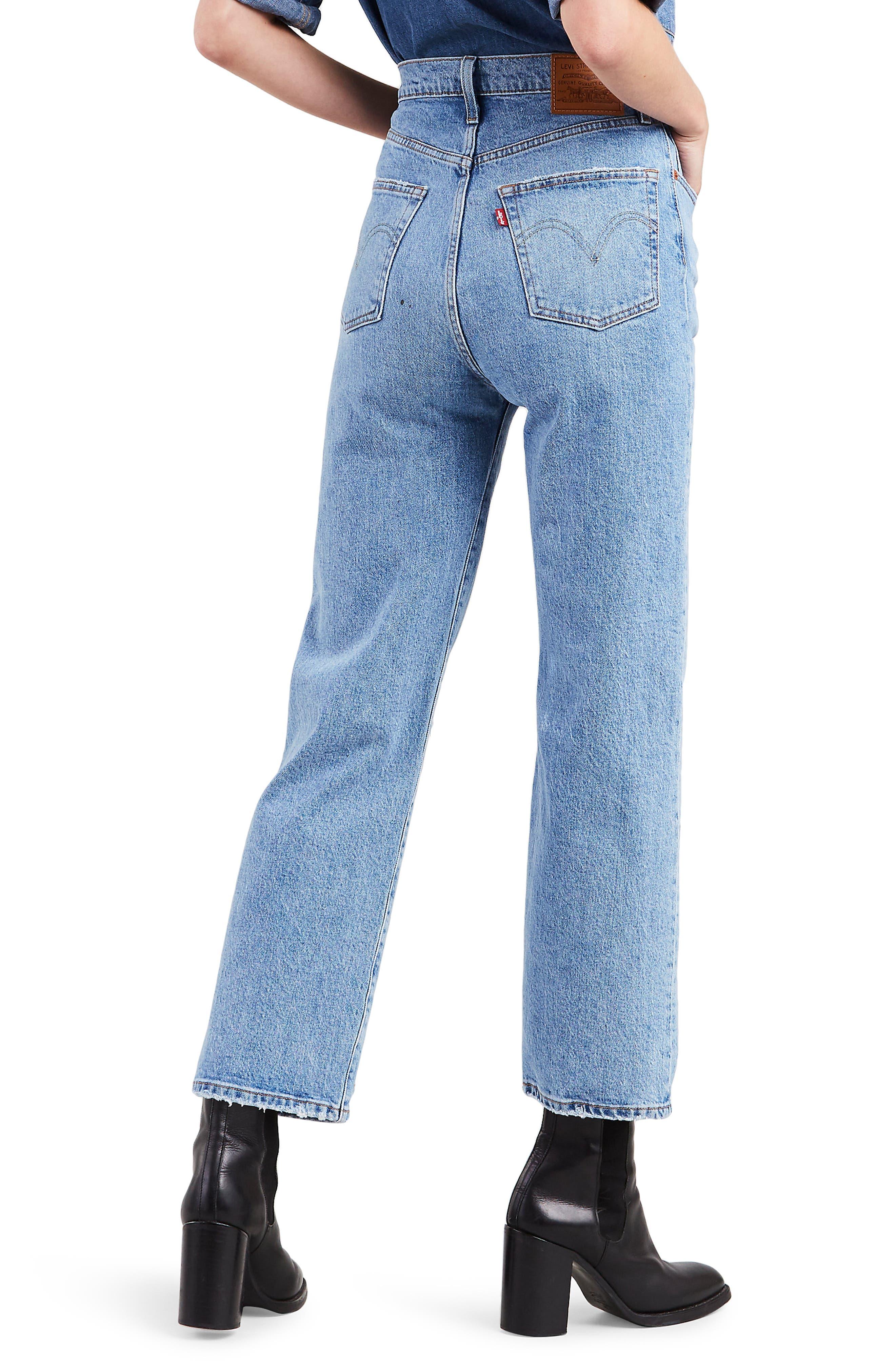 ,                             Ribcage High Waist Straight Leg Jeans,                             Alternate thumbnail 2, color,                             400