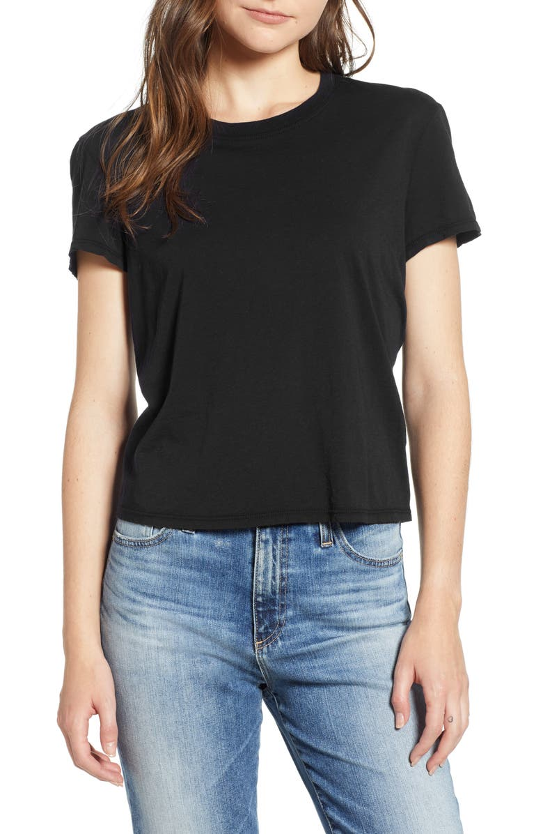 JAMES PERSE Feather Vintage Tee, Main, color, 001