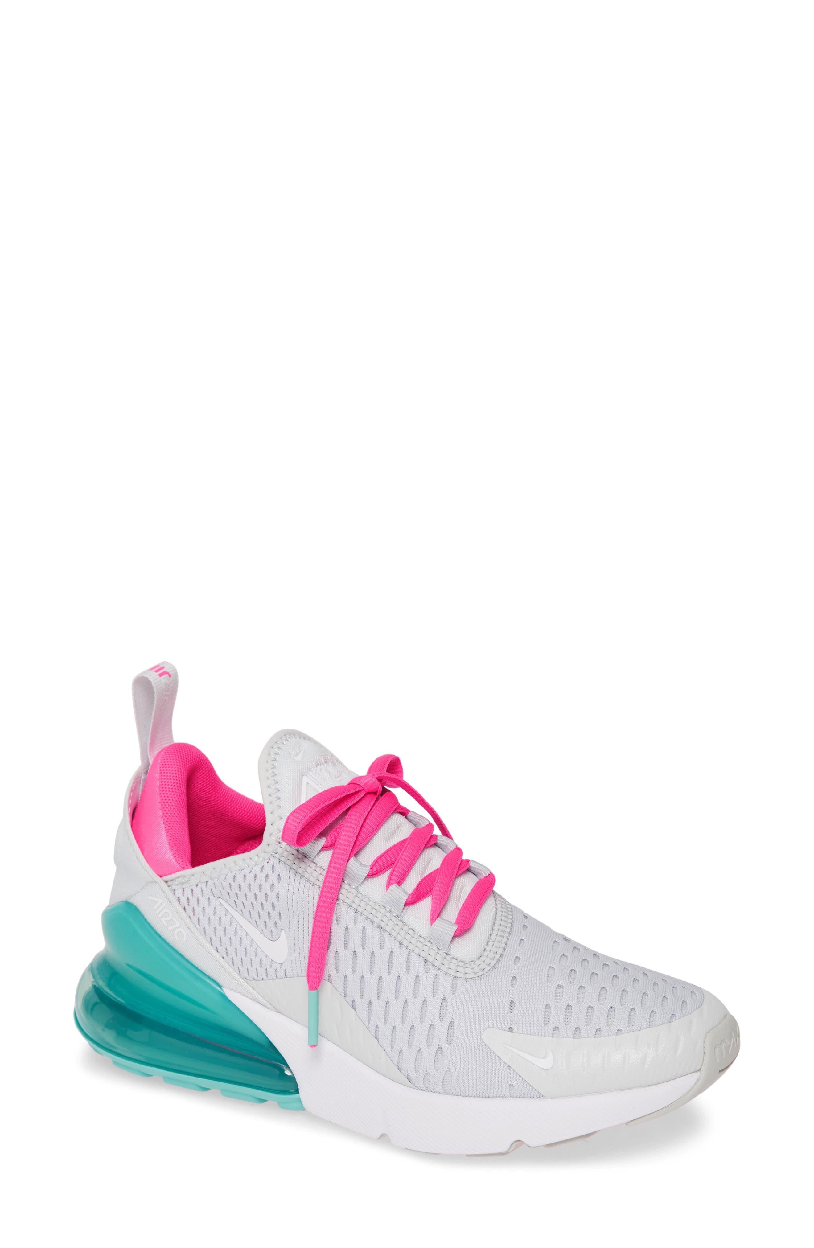 nike air max white pink