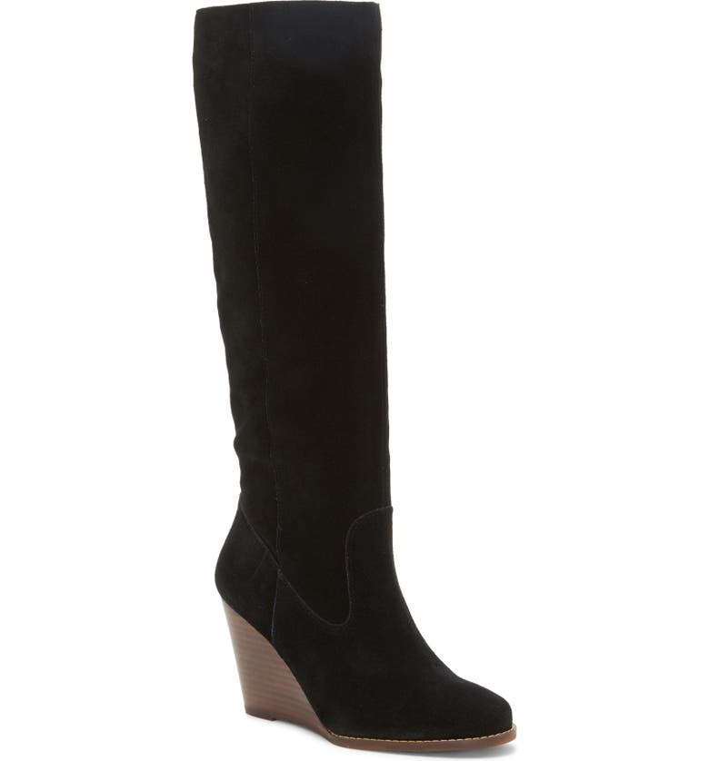 JESSICA SIMPSON Caydee Knee High Boot, Main, color, BLACK SUEDE