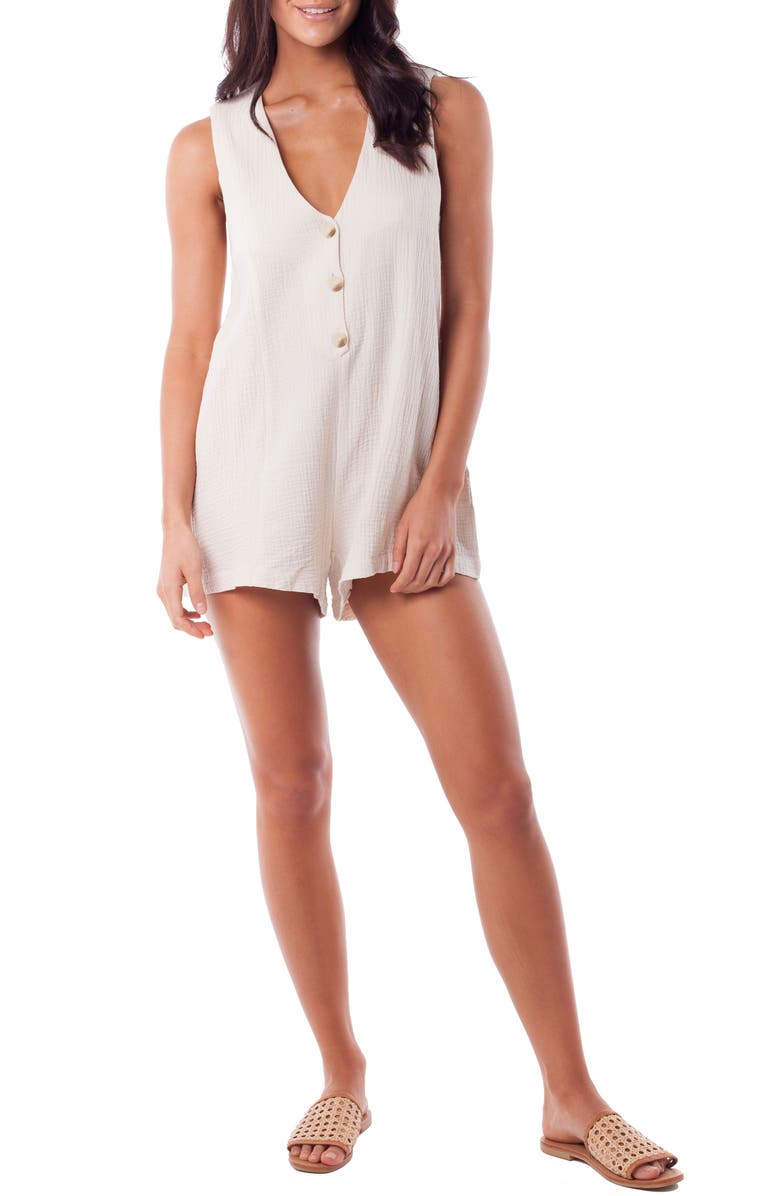 RHYTHM Camille Cover-Up Romper, Main, color, 107