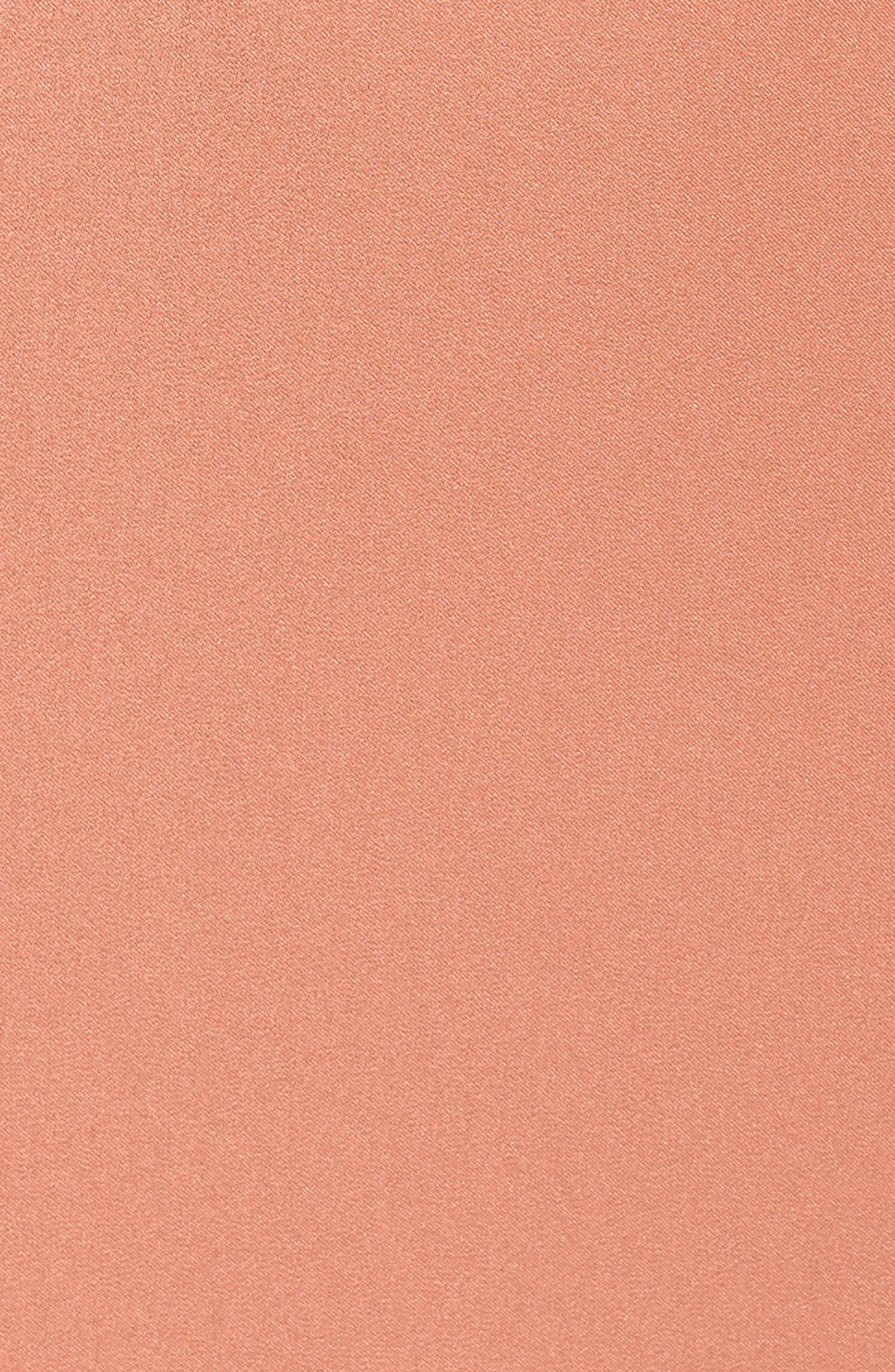 ,                             Jade Luxe Crepe V-Neck Gown,                             Alternate thumbnail 6, color,                             SEDONA SUNSET