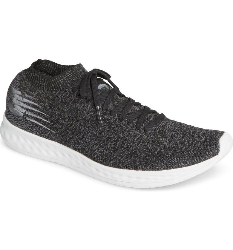 NEW BALANCE Fresh Foam Zante Solas Running Shoe, Main, color, BLACK/BLACK