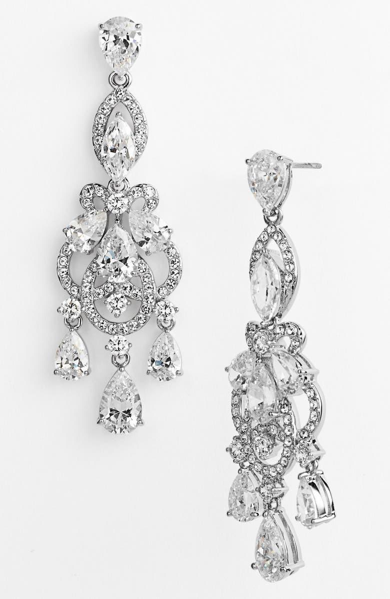 NADRI 'Legacy' Crystal Chandelier Earrings, Main, color, 040