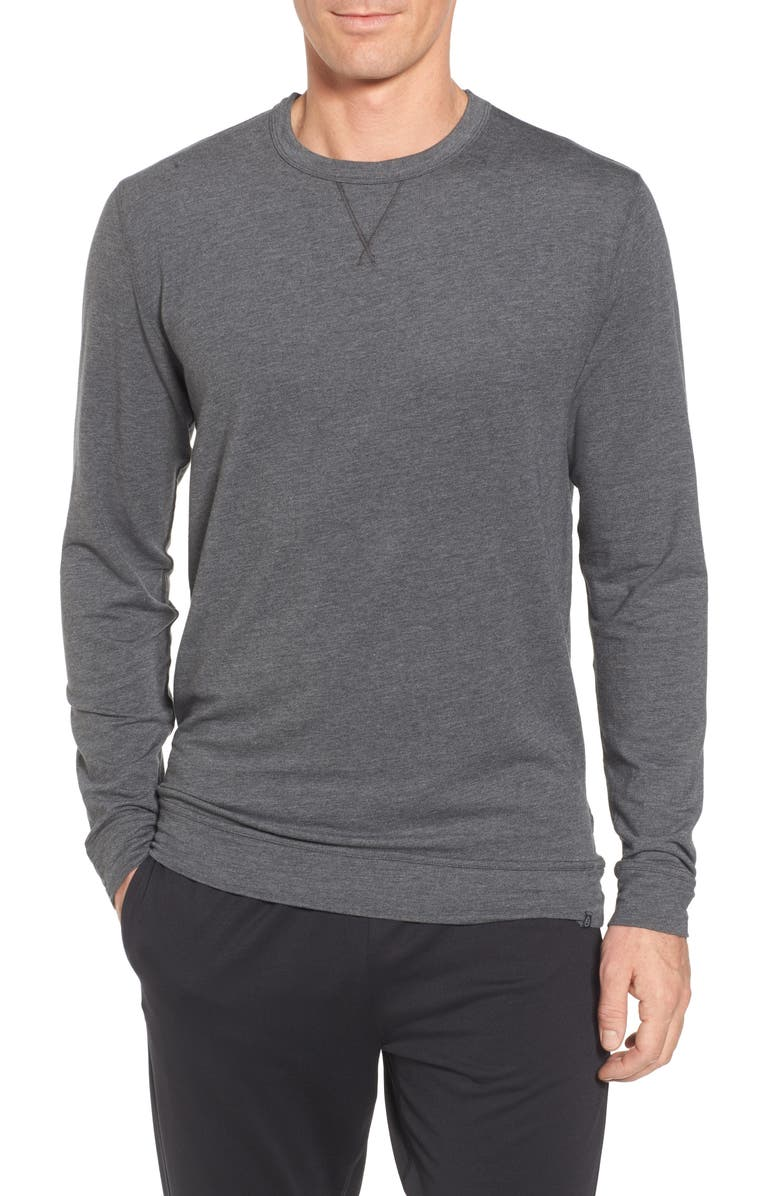 TASC PERFORMANCE Legacy Crewneck Sweatshirt, Main, color, BLACK HEATHER