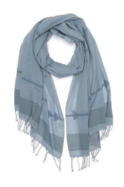Image of Eileen Fisher Handloomed Organic Cotton Arrow Scarf