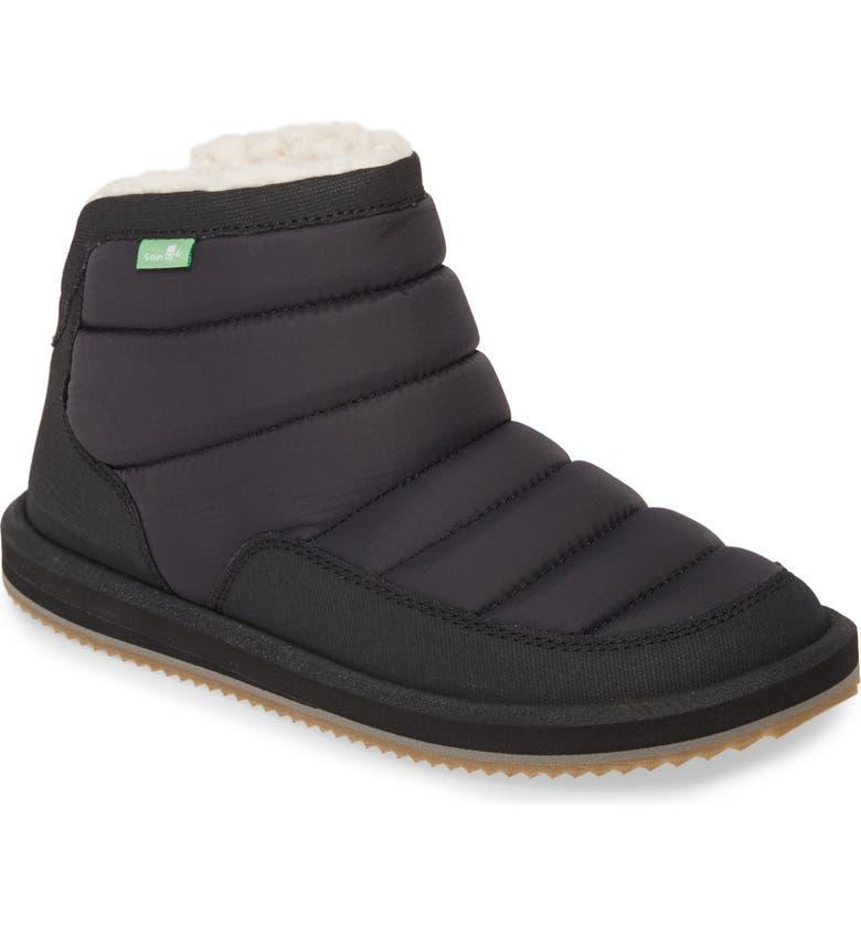 SANUK Puff N Chill Boot, Main, color, BLACK/ BLACK