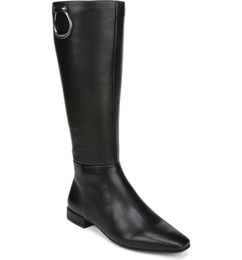 NATURALIZER Carella Tall Boot, Main, color, BLACK LEATHER