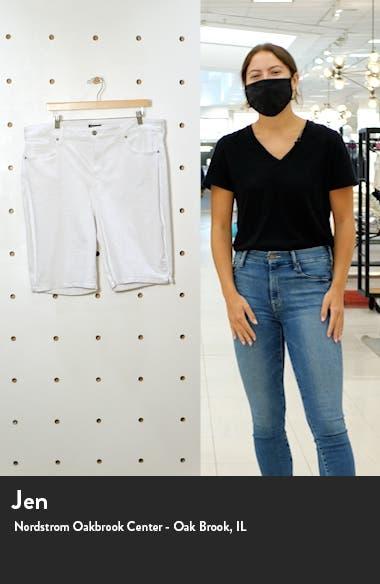 Side Slit Denim Shorts, sales video thumbnail