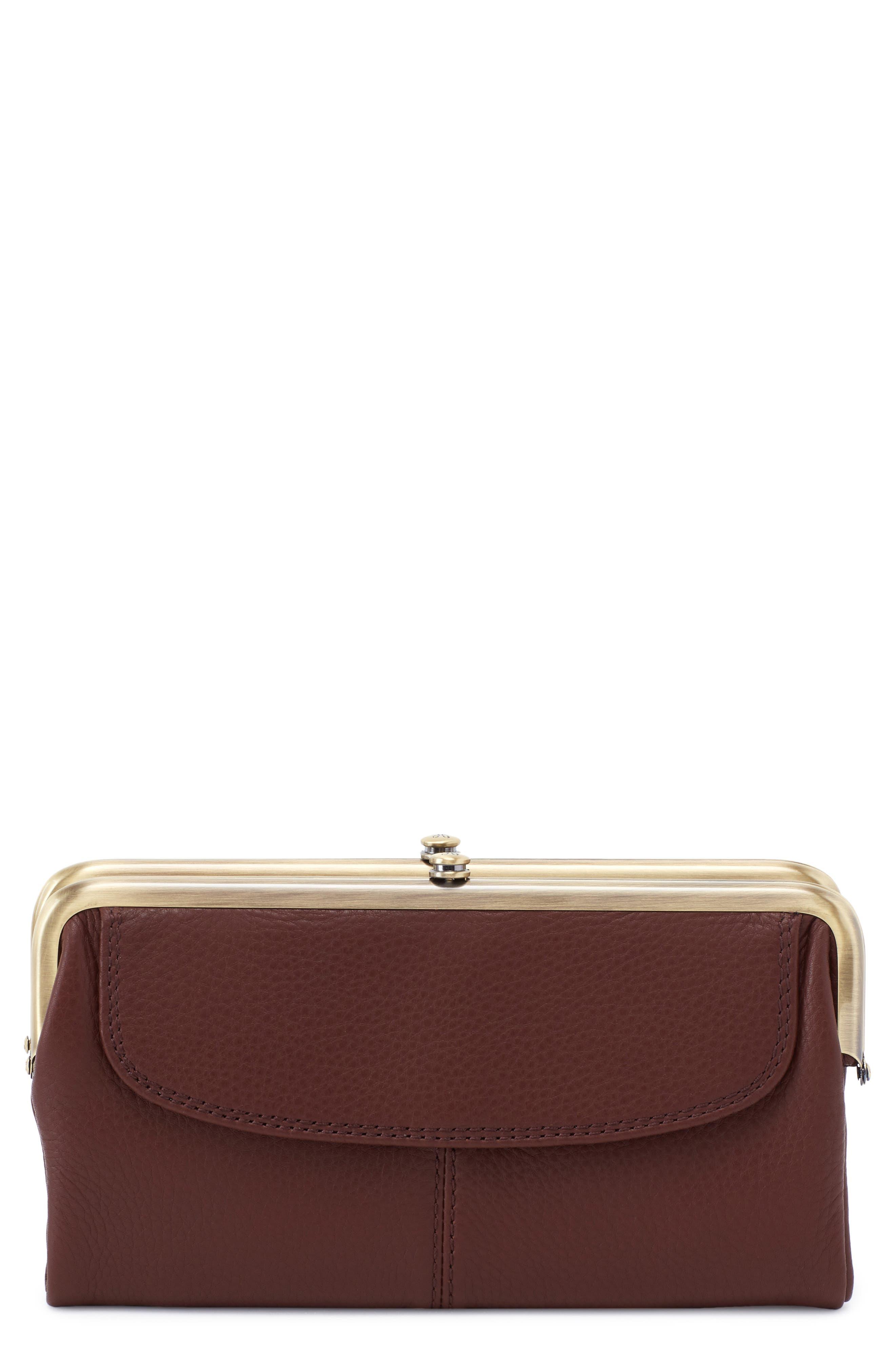 Lauren Double Frame Leather Wallet
