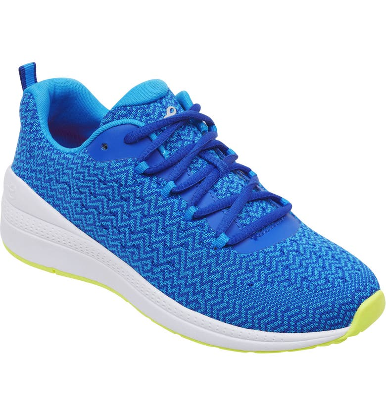 EVOLVE Trot2 Sneaker, Main, color, MEDIUM BLUE FABRIC