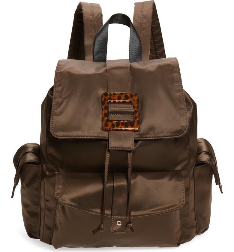 SKINNYDIP Nala Nylon Backpack, Main, color, BLACK MULTI