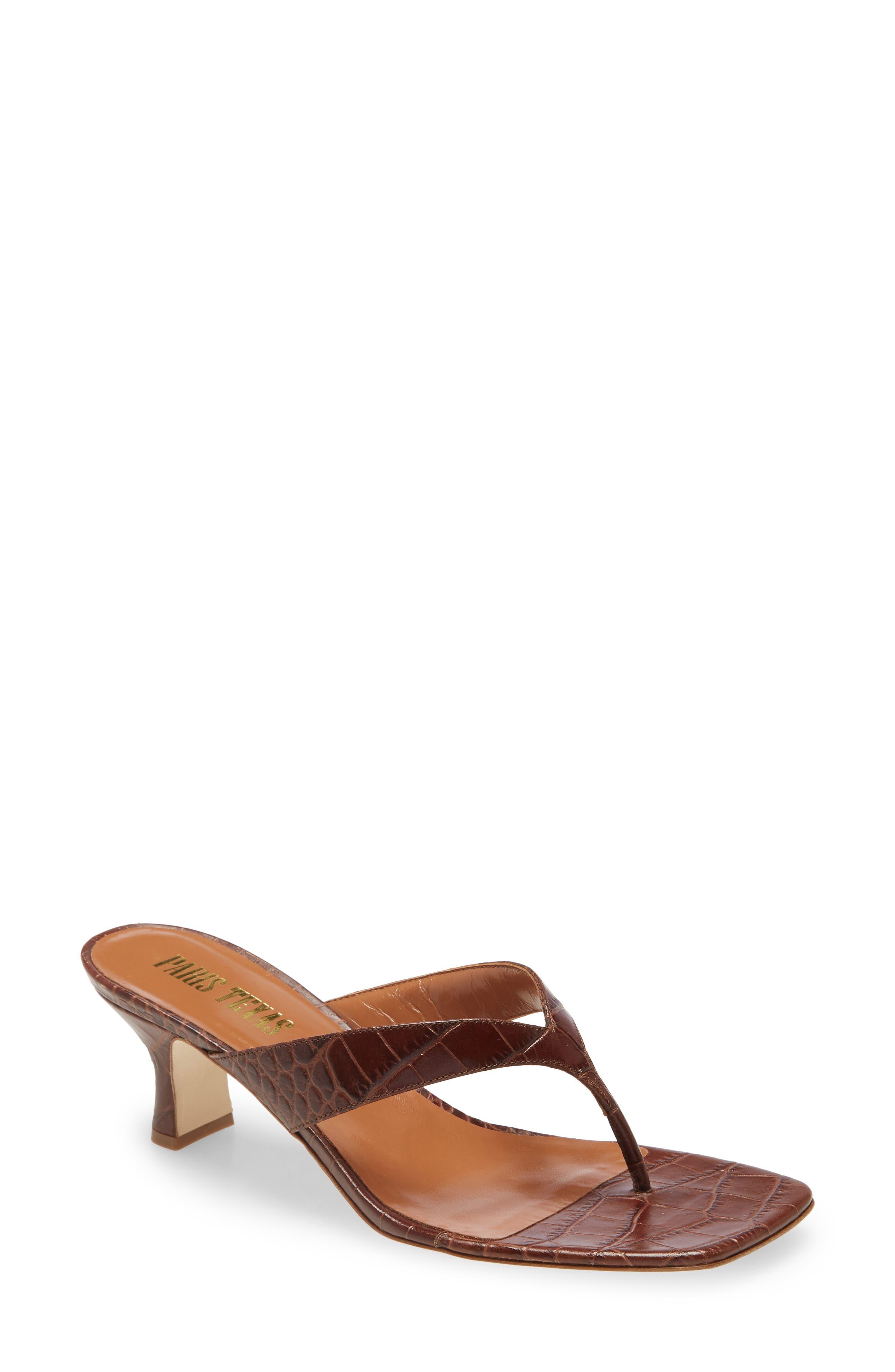 Image of PARIS TEXAS Croc Embossed Sandal