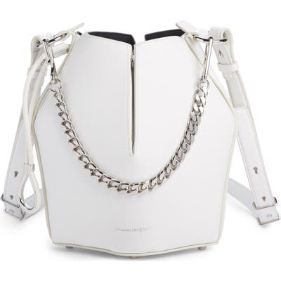 Alexander Mcqueen Small Leather Bucket Bag - Ivory