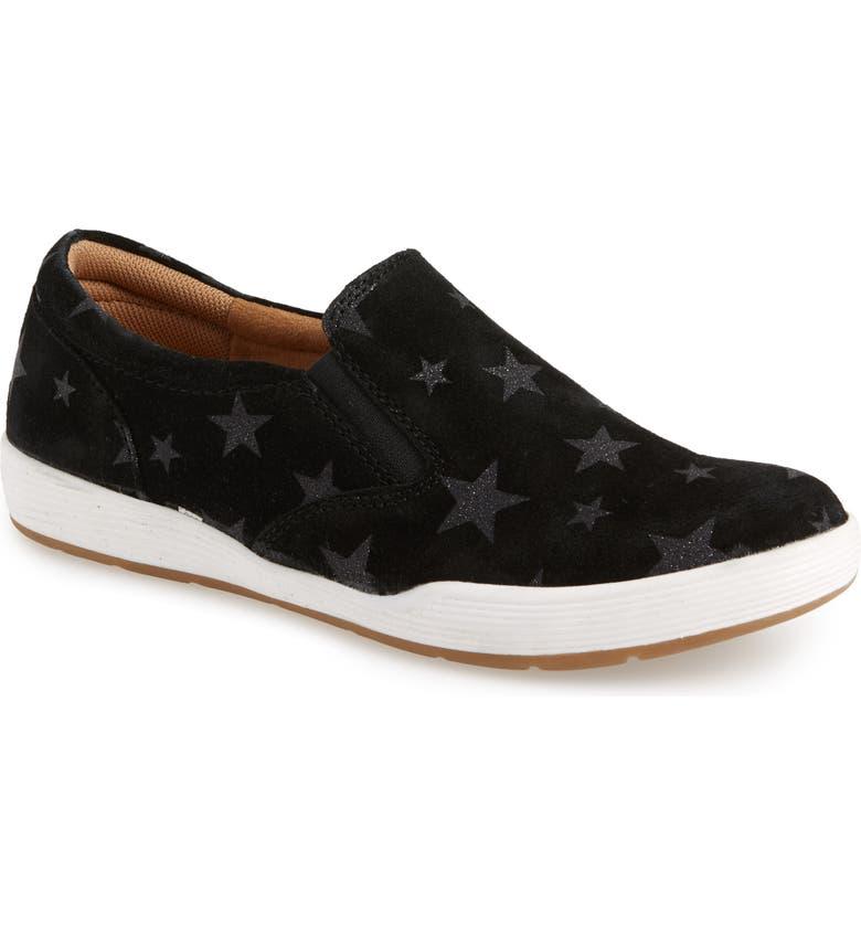 COMFORTIVA Linette Suede Slip-On Sneaker, Main, color, 001
