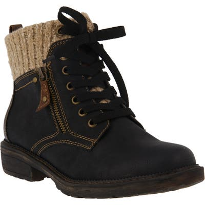 Spring Step Khazera Lace-Up Boot - Black