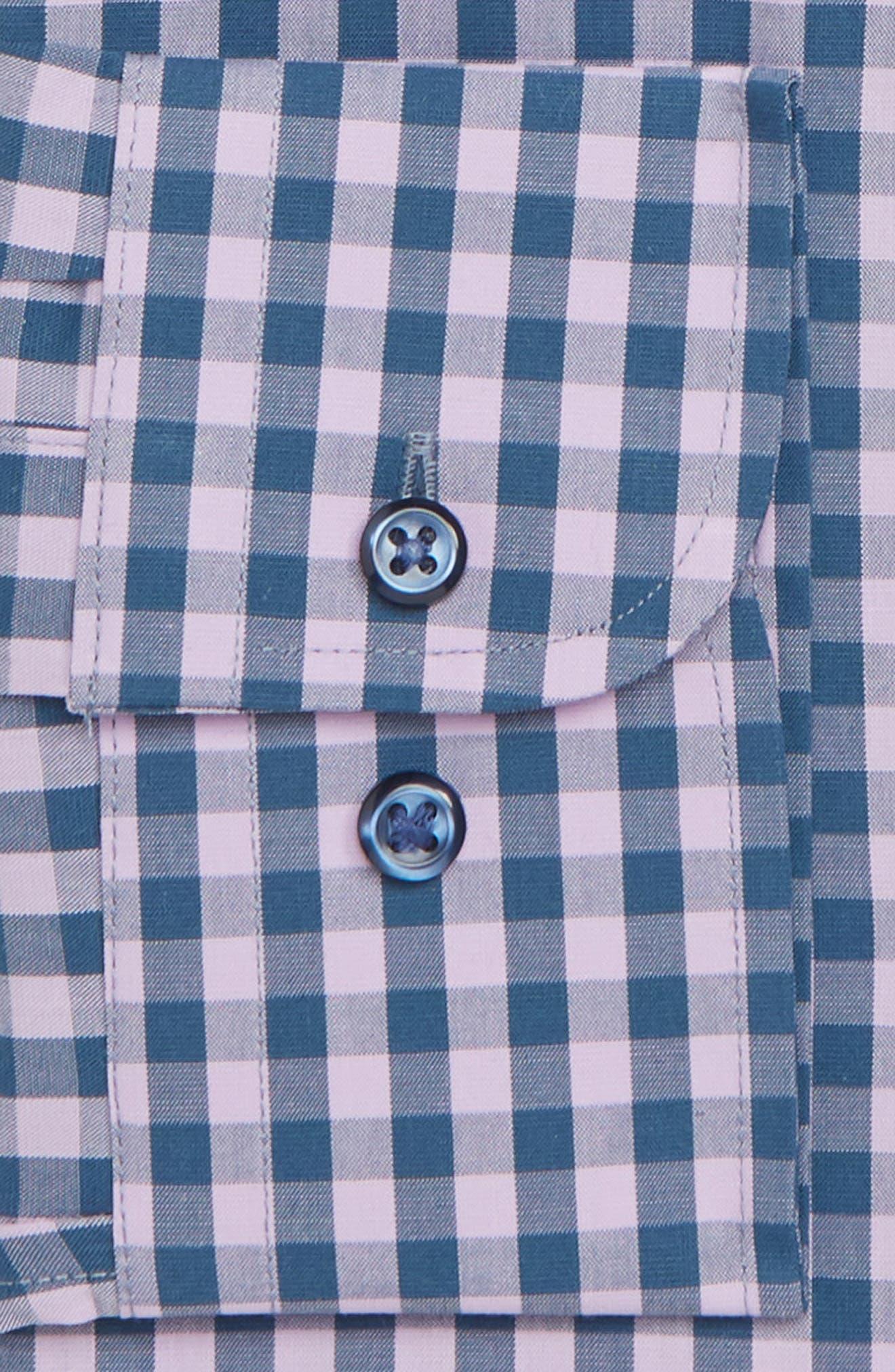 ,                             Tech-Smart Trim Fit Stretch Check Dress Shirt,                             Alternate thumbnail 44, color,                             510