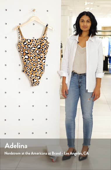 Leopard Print One-Piece Swimsuit, sales video thumbnail