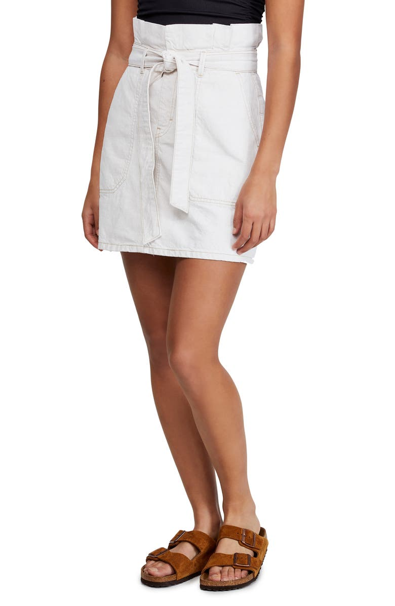 FREE PEOPLE Splendor in the Grass Tie Skirt, Main, color, NEUTRAL